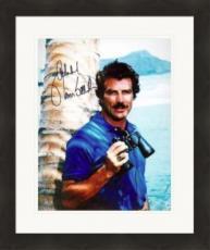 Tom Selleck autographed 8x10 photo (Magnum PI) #15 Matted & Framed