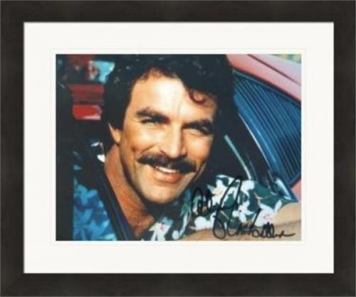 Tom Selleck autographed 8x10 photo (Magnum PI) #18 Matted & Framed