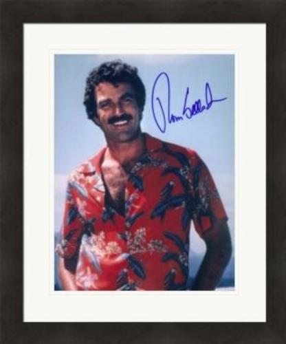 Tom Selleck autographed 8x10 photo (Magnum PI) #2 Matted & Framed