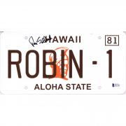 Tom Selleck Autographed Magnum P.I. License Plate Signed in Black Ink - BAS
