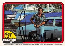 Tom Selleck autographed trading card Magnum PI 1982 #15 SC