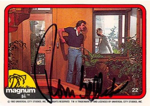 Tom Selleck autographed trading card Magnum PI 1982 #22 SC