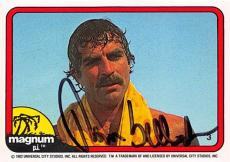 Tom Selleck autographed trading card Magnum PI 1982 #3 SC