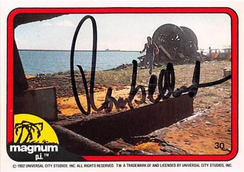 Tom Selleck autographed trading card Magnum PI 1982 #30 SC