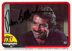 Tom Selleck autographed trading card Magnum PI 1982 #43 SC