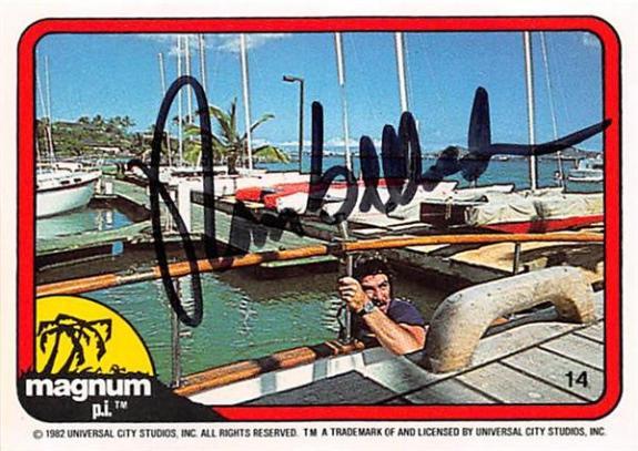 Tom Selleck autographed trading card Magnum PI 1982 TV Show SC #14