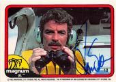 Tom Selleck autographed trading card Magnum PI 1982 TV Show SC #18
