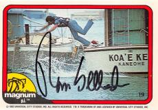 Tom Selleck autographed trading card Magnum PI 1982 TV Show SC #19