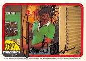 Tom Selleck autographed trading card Magnum PI 1982 TV Show SC #21
