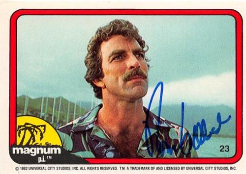 Tom Selleck autographed trading card Magnum PI 1982 TV Show SC #23
