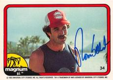 Tom Selleck autographed trading card Magnum PI 1982 TV Show SC #34