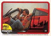 Tom Selleck autographed trading card Magnum PI 1982 TV Show SC #39