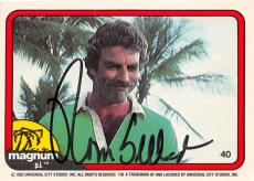 Tom Selleck autographed trading card Magnum PI 1982 TV Show SC #40