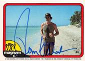 Tom Selleck autographed trading card Magnum PI 1982 TV Show SC #45