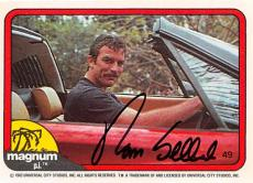 Tom Selleck autographed trading card Magnum PI 1982 TV Show SC #49
