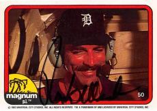 Tom Selleck autographed trading card Magnum PI 1982 TV Show SC #50 Detroit Tigers Hat