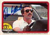 Tom Selleck autographed trading card Magnum PI 1982 TV Show SC #51