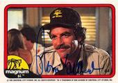 Tom Selleck autographed trading card Magnum PI 1982 TV Show SC #64