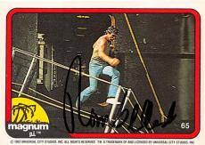 Tom Selleck autographed trading card Magnum PI 1982 TV Show SC #65