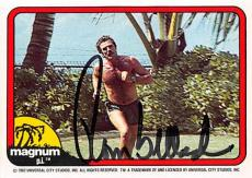 Tom Selleck autographed trading card Magnum PI 1982 TV Show SC #7 Shirtless