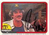 Tom Selleck autographed trading card Magnum PI 1982 TV Show SC #9
