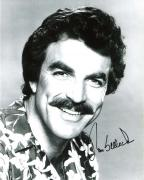 """TOM SELLECK - Best Known as PRIVATE INVESTIGATOR THOMAS MAGNUM in TV Series """"MAGNUM P.I."""" Signed 8x10 B/W Photo"""
