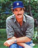 TOM SELLECK HAND SIGNED 8x10 PHOTO     SEXY POSE AS MAGNUM PI    TO CHRIS    JSA