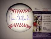 Tom Selleck Hand Signed Oml Baseball Jsa Cert Mr Baseball Actor