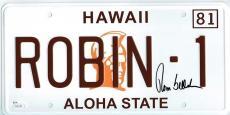 Tom Selleck Magnum PI Autographed Signed License Plate Certified JSA COA