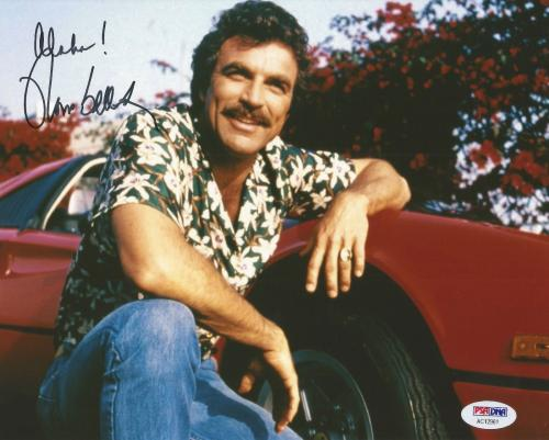 Tom Selleck Magnum Pi Blue Bloods Signed Autograph 8x10 Photo PSA/DNA COA (H)