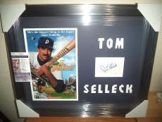 Tom Selleck Mr Baseball Signed Autographed 16x24 Double Matted Framed Jsa Coa