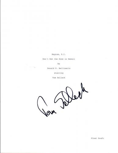 Tom Selleck Signed Autographed MAGNUM P.I. Pilot Episode Script COA VD