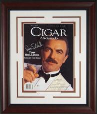 Tom Selleck Signed Cigar Aficionado Framed Display