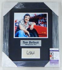 Tom Selleck Signed Display Piece Framed Matted Magnum P.I. JSA Auto
