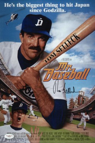 Tom Selleck Signed Mr. Baseball 10x15 Movie Poster Jsa Coa G99444