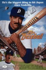 Tom Selleck Signed Mr. Baseball 10x15 Movie Poster Jsa Coa G99445