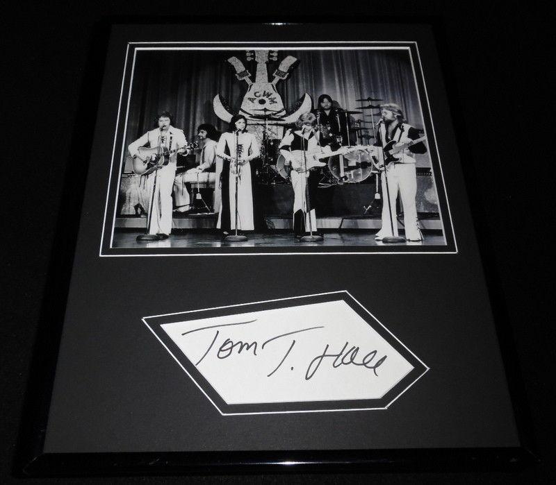 Tom T Hall Signed Framed 11x14 Photo Display w/ Donna Fargo