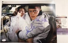 TOM WILSON & LEA THOMPSON signed 11x14 Photo BIFF BTTF Back to the Future JSA