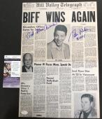 Autographed Tom Wilson Picture - 12x18 Poster Newspaper BIFF TANNEN Back to the Future BTTF JSA