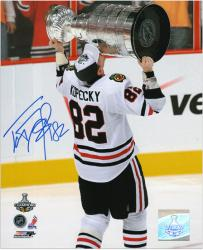 "Chicago Blackhawks Tomas Kopecky 2010 Stanley Cup Champions Autographed 8"" x 10"" Photo"