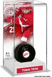 Tomas Tatar Detroit Red Wings Deluxe Tall Hockey Puck Case