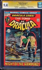 Tomb Of Dracula #1 Cgc 9.4 White Ss 2x Stan Lee & Neal Adams Signed #1206493015