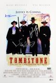 Tombstone (3) Russell, Kilmer & Elliott Signed 12x18 Movie Poster BAS #A80845