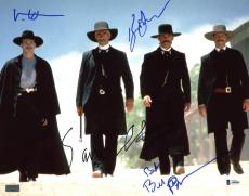 Tombstone (4) Russell, Paxson, Kilmer & Elliott Signed 11X14 Photo BAS #A80840