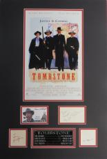 Tombstone (4) Signed Matted Display- Russell, Kilmer, Paxton, Elliott PSA/DNA