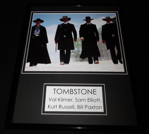 Tombstone Cast Framed 11x14 Photo Display Kurt Russell Val Kilmer Sam Elliott
