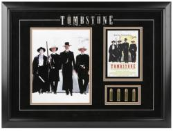 TOMBSTONE FRAMED PHOTO w/BULLETS/MINI MOVIE POSTER