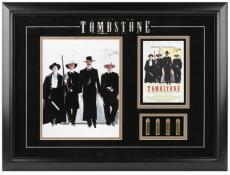 Tombstone Framed Photograph with Bullets & Mini Movie Poster