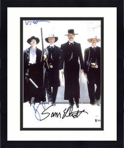 Tombstone Kurt Russell, Val Kilmer & Sam Elliott Signed 11X14 Photo BAS #A80843