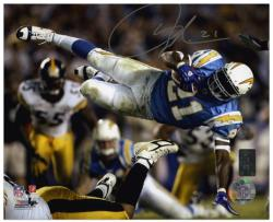 "LaDainian Tomlinson San Diego Chargers Autographed 8"" x 10"" In Air Photograph"